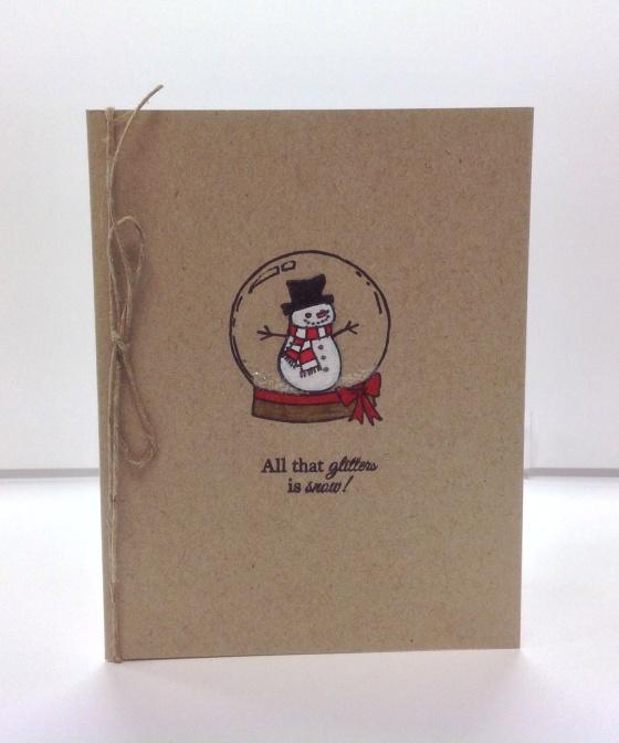 Card Kit - Snowman Globe