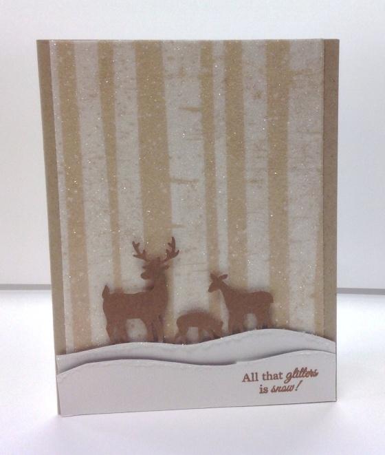 Card Kit - Sparkly Deer