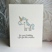 For your birthday I got you this unicorn (1)