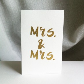 Mrs. and Mrs.