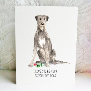 6x6 irish wolf hound love