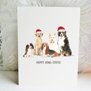 2 Xmas Cavalier Yellow Lab Basset WhiteCollie Bernese