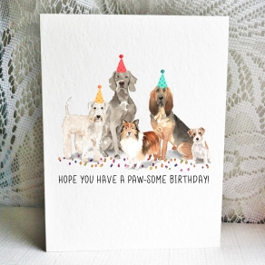 Dog Cards - Soft Coated Wheaten Weirmaraner Sheltie Bloodhound Jack Russell