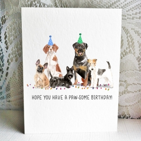 Party Pups - Frenchie Scottie Brittany Rottie Fox Terrier