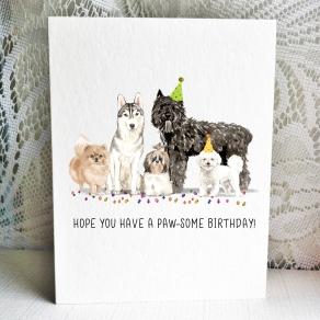 Party Pups - Pomeranian Husky Shih Tzu Bouvier Bichon
