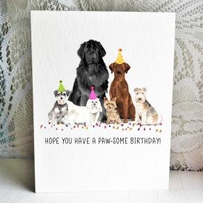Party Pups - Schnauzer Newf Maltie Yorkie ChocLab Lakeland Terrier