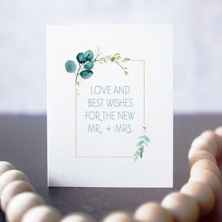 Love And Best Wishes For The New Mr and Misses