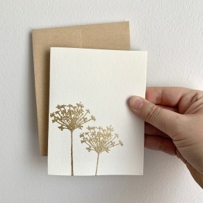 Queen Anne's Lace - gold embossed