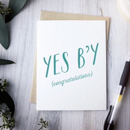 Yes b'y Congratulations